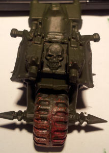 Das mit Catachan Green bemalte Nurgle Bike