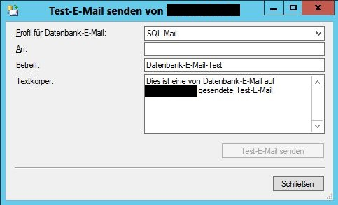 Database Mail Send Test Mail